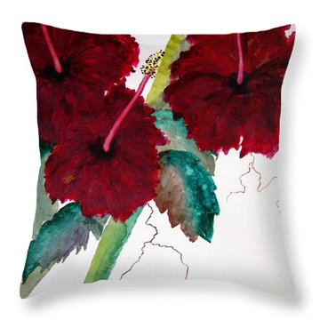 Scarlet Red Throw Pillow by Lil Taylor