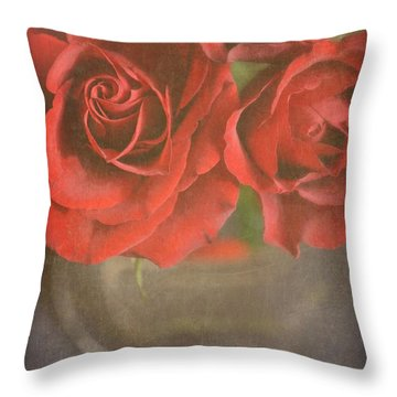 Throw Pillow featuring the photograph Scarlet Roses by Lyn Randle