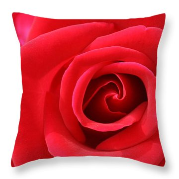 Scarlet Vortex Throw Pillow by David Dunham