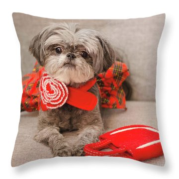 Scarlett And Red Purse Throw Pillow
