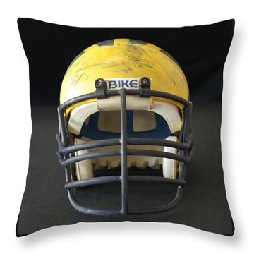 Scarred 1980s Wolverine Helmet Throw Pillow