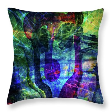 Scary Face-2 Throw Pillow