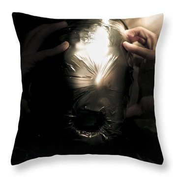 Scary Face Of Terror Throw Pillow by Jorgo Photography - Wall Art Gallery