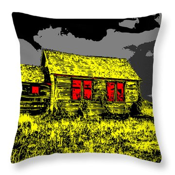 Scary Farmhouse Throw Pillow