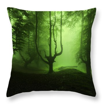 The Funeral Of Trees Throw Pillow