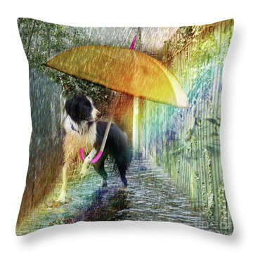 Scary Graffiti Throw Pillow
