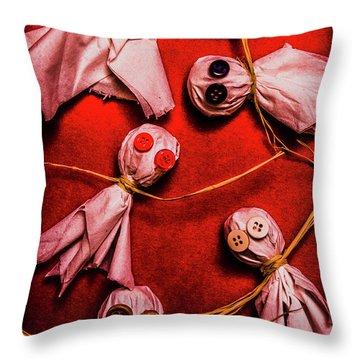 Scary Halloween Lollipop Ghosts Throw Pillow