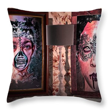 Scary Museum Wallart Throw Pillow