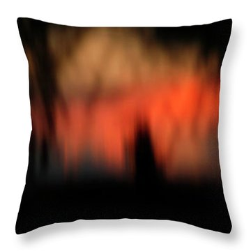 Throw Pillow featuring the photograph Scary Nights by Marilyn Hunt