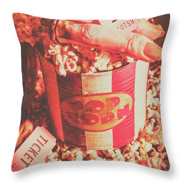 Scary Vintage B-grade Horror Movies Throw Pillow