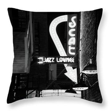 Scat Jazz Bw 11217 Throw Pillow