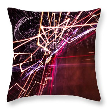 Scatter  Throw Pillow by Micah Goff