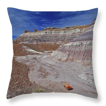 Scattered Fragments Throw Pillow