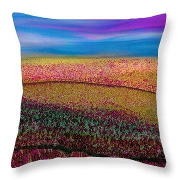 Scattered Stigma Throw Pillow