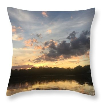 Scattered Sunset Clouds Throw Pillow