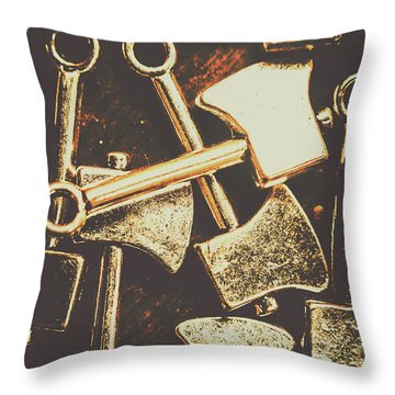 Scattering Axes Throw Pillow