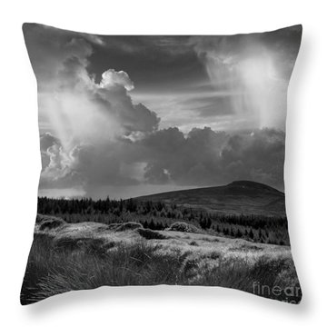 Scattering Clouds Over The Cronk Throw Pillow