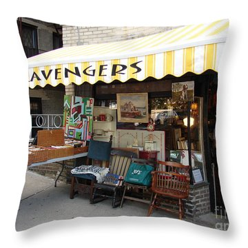 Scavengers Throw Pillow by Cole Thompson