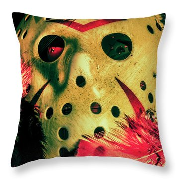 Scene From A Fright Night Slasher Flick Throw Pillow