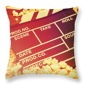 Scene From An American Movie Throw Pillow