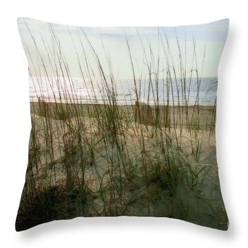 Scene From Hilton Head Island Throw Pillow by Angela Rath