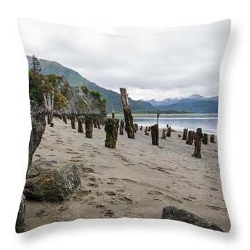 Scene In Halibut Cove Throw Pillow