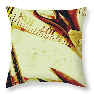 Scenes From A Seamstress Throw Pillow