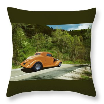 Scenic Drive Throw Pillow by Steven Agius
