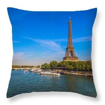 Scenic Eiffel Tower  Throw Pillow