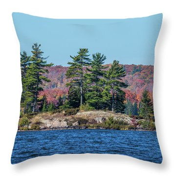 Throw Pillow featuring the photograph Scenic Fall View by Paul Freidlund