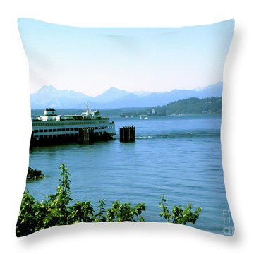 Scenic Ferry Image Throw Pillow