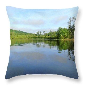 Scenic Gorham Pond #1 Throw Pillow