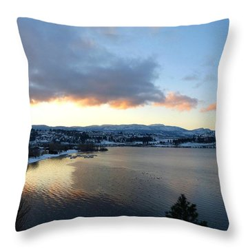 Throw Pillow featuring the photograph Scenic Lake Country by Will Borden