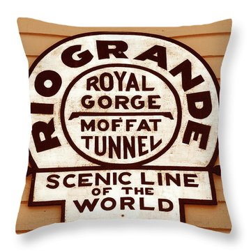 Scenic Line Of The World Throw Pillow by David Lee Thompson
