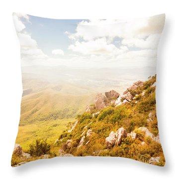 Scenic Mountain Peak Throw Pillow