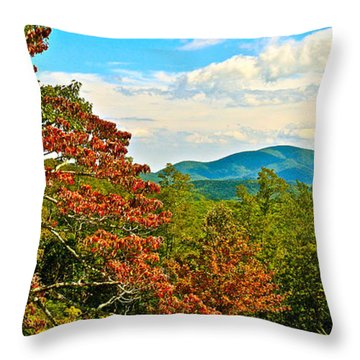 Scenic Overlook Blue Ridge Parkway Throw Pillow