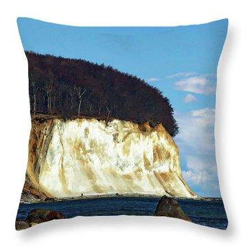Scenic Rugen Island Throw Pillow by Anthony Dezenzio