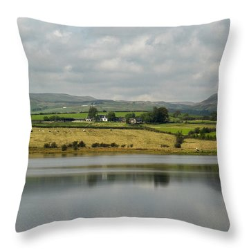 Scenic Scotland Throw Pillow by Amy Fearn