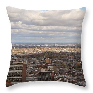Scenic View Of Montreal Throw Pillow