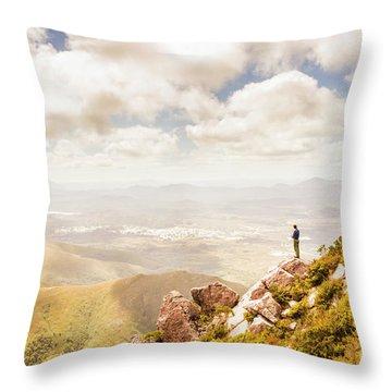 Scenic View Of Mt Zeehan, Tasmania, Australia Throw Pillow