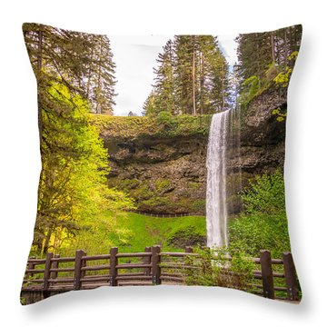Throw Pillow featuring the photograph Scenic Waterfalls by Jerry Cahill