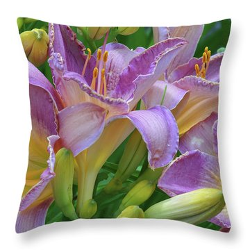 Scent Of A Lily Throw Pillow