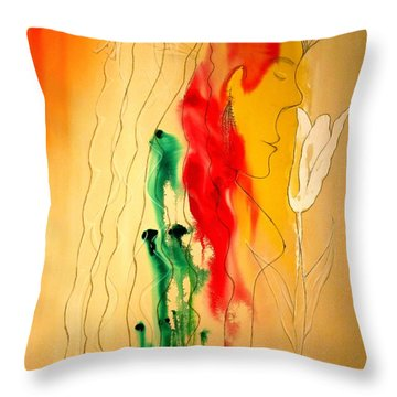 Scent Of An Orchid Throw Pillow