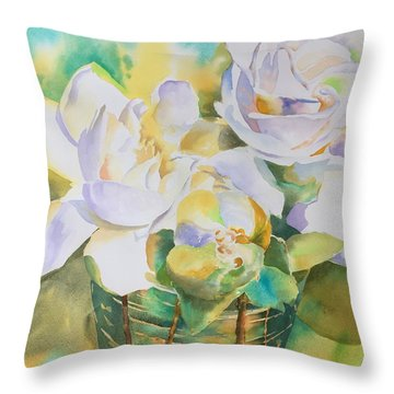 Scent Of Gardenias  Throw Pillow