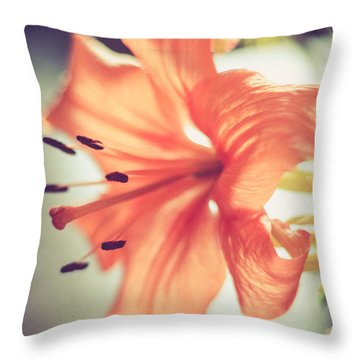 Throw Pillow featuring the photograph Scent Of Spring by Viviana  Nadowski