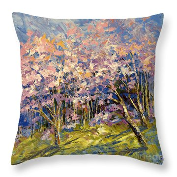 Scented Blooms Throw Pillow