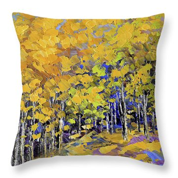 Scented Woods Throw Pillow