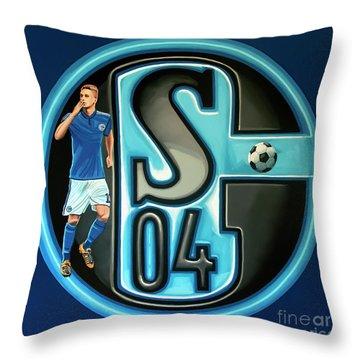 Schalke 04 Gelsenkirchen Painting Throw Pillow