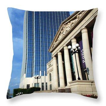 Schermerhorn Symphony Center Nashville Throw Pillow by Susanne Van Hulst