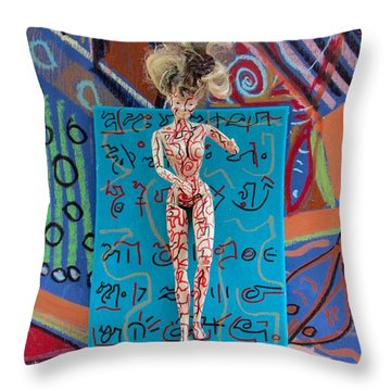 Throw Pillow featuring the painting Schisandra Berry Herbal Tincture by Clarity Artists